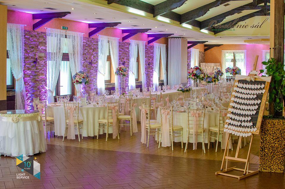 výzdoba reštaurácie Berek v Nových Zámkoch od Pretty Wedding