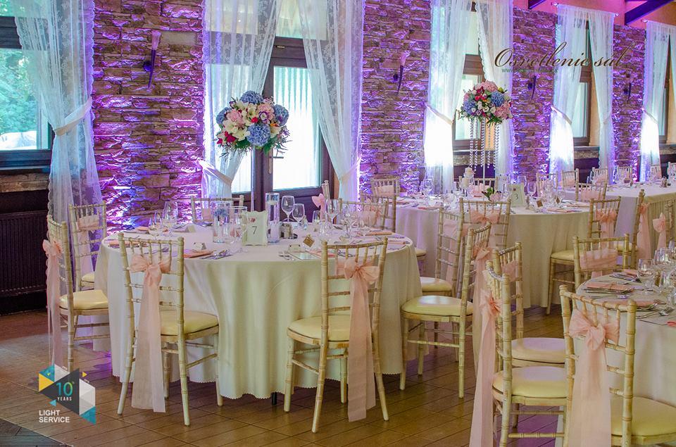 Svadobná výzdoba reštaurácie Berek v Nových Zámkoch Pretty Wedding