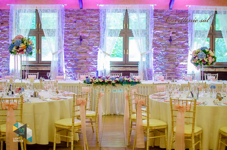 Svadobná výzdoba reštaurácie Berek