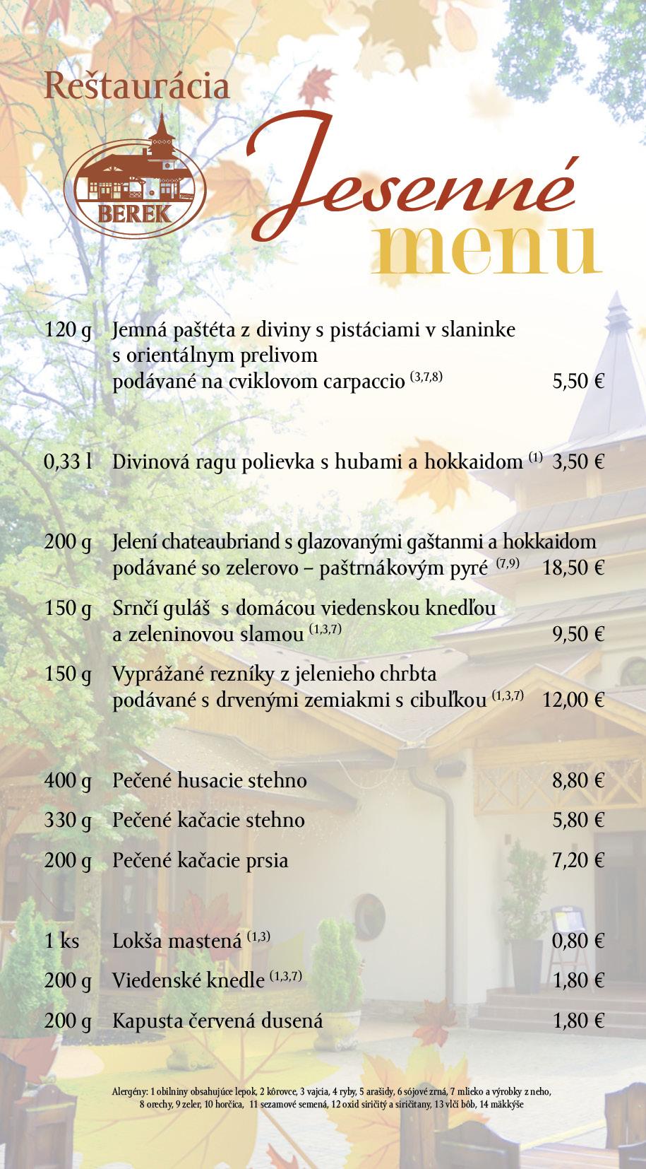 jesenne menu berek nove zamky